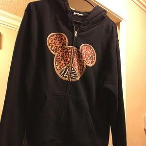 Disney Animal Kingdom Black hooded jacket w/hood